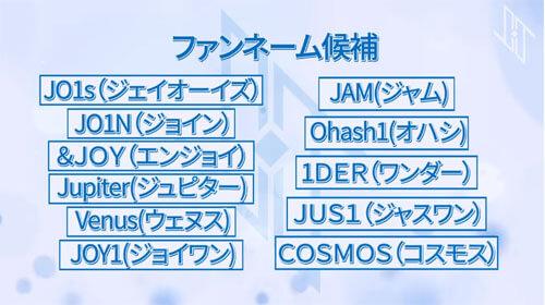 【日プ発】JO1のファンネームが「JAM」に決定!その意味は?