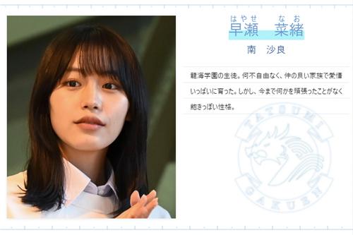 【ドラゴン桜2021】早瀬 菜緒(はやせなお)役/南 沙良