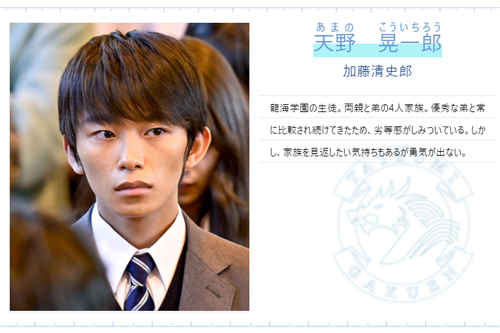【ドラゴン桜2021】天野 晃一郎(あまのこういちろう)役/加藤 清史郎